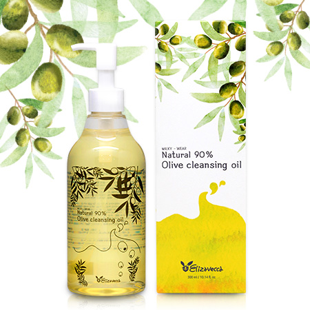 [Elizavecca] Гидрофильное масло ОЛИВА Natural 90% Olive Cleansing Oil, 300 мл