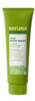[NATURIA] Гель для душа МЯТА/ЛАЙМ PURE BODY WASH (Wild Mint & Lime), 100 мл