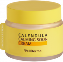 [WELLDERMA] Крем для лица КАЛЕНДУЛА Calendula Calming Soon Cream, 80 мл