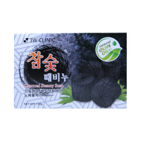 [3W CLINIC] Мыло кусковое УГОЛЬ Charcoal Beauty Soap, 120 гр