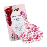 [KOELF] Маски-носочки для ног РОЗА Rose Petal Satin Foot Mask, 16 гр